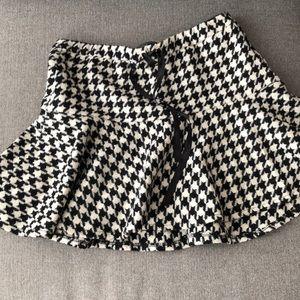 Zara houndstooth mini skirt